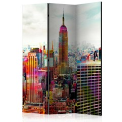 Artgeist 3-teiliges Paravent - Colors of New York City [Room Dividers]