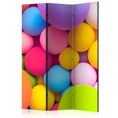 Artgeist 3-teiliges Paravent - Colourful Balls [Room Dividers]