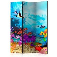 Artgeist 3-teiliges Paravent - Colourful Fish [Room Dividers]