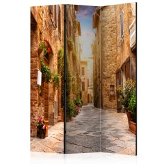 Artgeist 3-teiliges Paravent - Colourful Street in Tuscany [Room Dividers]