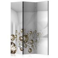 Artgeist 3-teiliges Paravent - Corridor of Diamonds [Room Dividers]