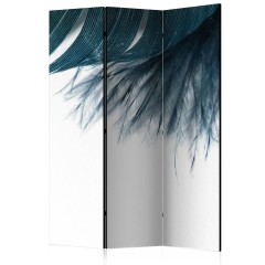 Artgeist 3-teiliges Paravent - Dark Blue Feather [Room Dividers]