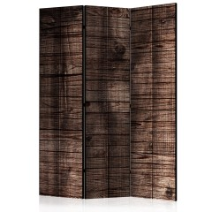 Artgeist 3-teiliges Paravent - Dark Brown Boards [Room Dividers]