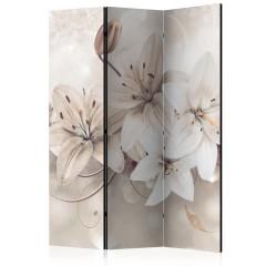 Artgeist 3-teiliges Paravent - Diamond Lilies [Room Dividers]