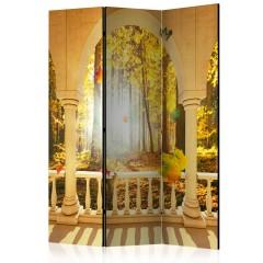 Artgeist 3-teiliges Paravent - Dream About Autumnal Forest [Room Dividers]