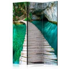 Artgeist 3-teiliges Paravent - Emerald Lake [Room Dividers]