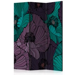 Artgeist 3-teiliges Paravent - Flowerbed [Room Dividers]