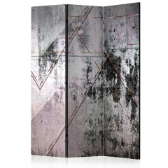 Artgeist 3-teiliges Paravent - Geometric Wall [Room Dividers]