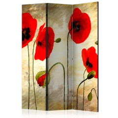 Artgeist 3-teiliges Paravent - Golden Field of Poppies [Room Dividers]