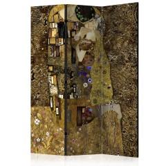 Artgeist 3-teiliges Paravent - Golden Kiss [Room Dividers]