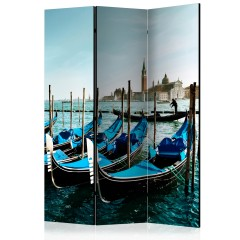 Artgeist 3-teiliges Paravent - Gondolas on the Grand Canal, Venice [Room Dividers]