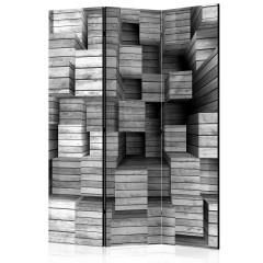 Artgeist 3-teiliges Paravent - Grey Precision [Room Dividers]