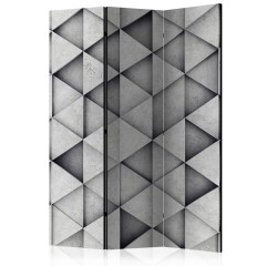 Artgeist 3-teiliges Paravent - Grey Triangles [Room Dividers]