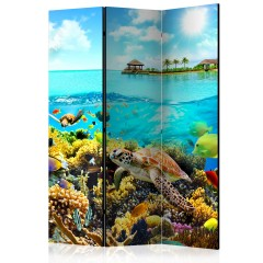 Artgeist 3-teiliges Paravent - Heavenly Maldive [Room Dividers]