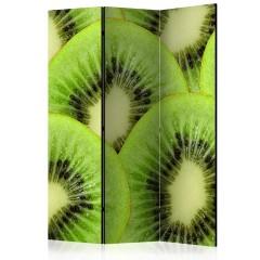 Artgeist 3-teiliges Paravent - Kiwi slices [Room Dividers]