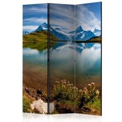Artgeist 3-teiliges Paravent - Lake with mountain reflection, Switzerland [Room Dividers]