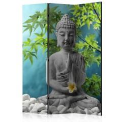 Artgeist 3-teiliges Paravent - Meditating Buddha [Room Dividers]