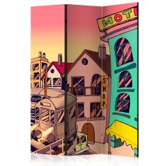 Artgeist 3-teiliges Paravent - Morning in a city [Room Dividers]