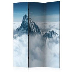 Artgeist 3-teiliges Paravent - Mountain in the clouds [Room Dividers]