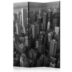 Artgeist 3-teiliges Paravent - New York: skyscrapers (bird's eye view) [Room Dividers]
