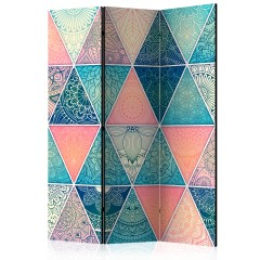 Artgeist 3-teiliges Paravent - Oriental Triangles [Room Dividers]