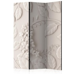 Artgeist 3-teiliges Paravent - Paper Flowers (Cream) [Room Dividers]