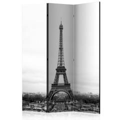 Artgeist 3-teiliges Paravent - Paris: black and white photography [Room Dividers]