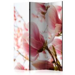 Artgeist 3-teiliges Paravent - Pink magnolia [Room Dividers]