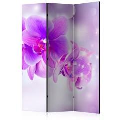 Artgeist 3-teiliges Paravent - Purple Orchids [Room Dividers]