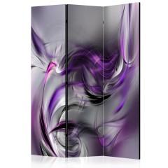 Artgeist 3-teiliges Paravent - Purple Swirls II [Room Dividers]
