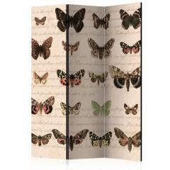 Artgeist 3-teiliges Paravent - Retro Style: Butterflies [Room Dividers]