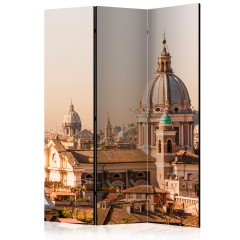 Artgeist 3-teiliges Paravent - Rome - bird's eye view [Room Dividers]
