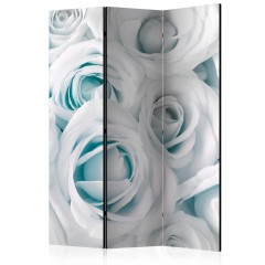 Artgeist 3-teiliges Paravent - Satin Rose (Turquoise) [Room Dividers]