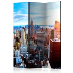 Artgeist 3-teiliges Paravent - Sunrise over Manhattan [Room Dividers]