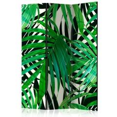 Artgeist 3-teiliges Paravent - Tropical Leaves [Room Dividers]