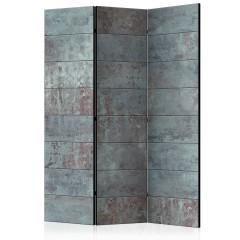 Artgeist 3-teiliges Paravent - Turquoise Concrete [Room Dividers]