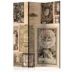 Artgeist 3-teiliges Paravent - Vintage Books [Room Dividers]