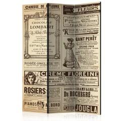 Artgeist 3-teiliges Paravent - Vintage Magazines [Room Dividers]