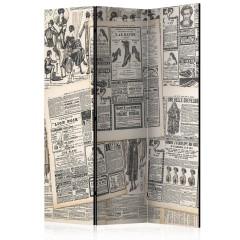 Artgeist 3-teiliges Paravent - Vintage Newspapers [Room Dividers]