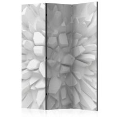 Artgeist 3-teiliges Paravent - White dahlia [Room Dividers]