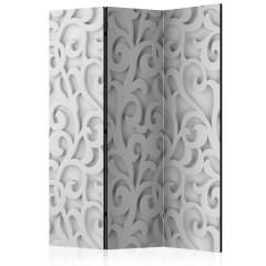 Artgeist 3-teiliges Paravent - White ornament [Room Dividers]