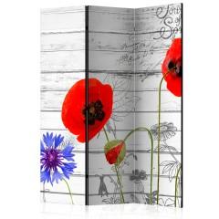 Artgeist 3-teiliges Paravent - Wildflowers [Room Dividers]
