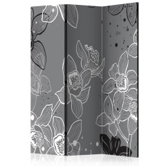 Artgeist 3-teiliges Paravent - Winter flora [Room Dividers]