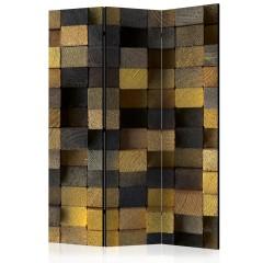 Artgeist 3-teiliges Paravent - Wooden cubes [Room Dividers]