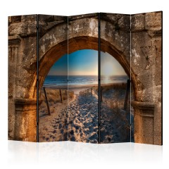 Artgeist 5-teiliges Paravent - Arch and Beach II [Room Dividers]