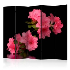 Artgeist 5-teiliges Paravent - Azalea in Black II [Room Dividers]