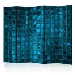 Artgeist 5-teiliges Paravent - Azure Mosaic II [Room Dividers]