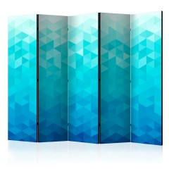 Artgeist 5-teiliges Paravent - Azure pixel II [Room Dividers]