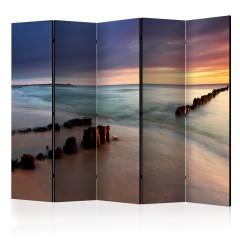Artgeist 5-teiliges Paravent - beach - sunrise II [Room Dividers]