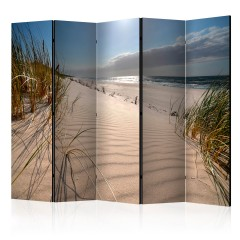 Artgeist 5-teiliges Paravent - Beach in Mrzezyno II [Room Dividers]